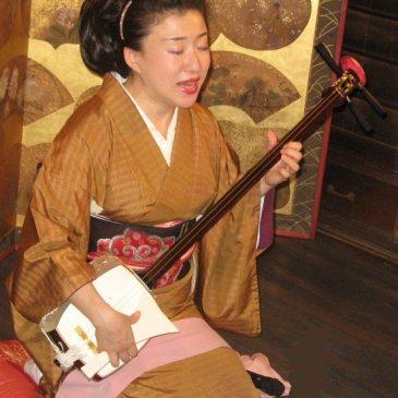 月岡祐紀子さんの瞽女唄演奏会